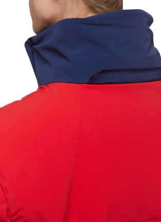 Detail View - Click To Enlarge - Perfect Moment - 'Amak' detachable hood colourblock down puffer jacket