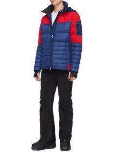 Perfect Moment 'Amak' detachable hood colourblock down puffer jacket
