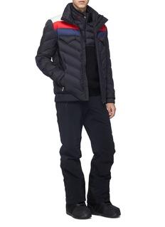 Perfect Moment 'Apres' colourblock Airtastic® down puffer jacket