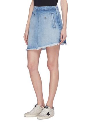 Detail View - Click To Enlarge - 72877 - 'Ann' detachable pleated panel asymmetric denim skirt