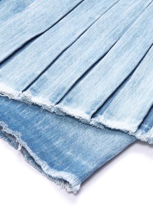 - 72877 - 'Ann' detachable pleated panel asymmetric denim skirt