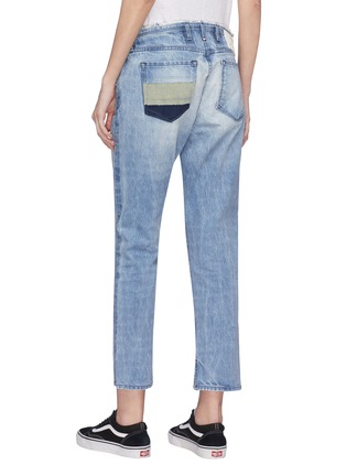 Back View - Click To Enlarge - 72877 - 'Tufa' colourblock patch pocket tie jeans