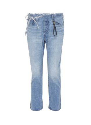 Main View - Click To Enlarge - 72877 - 'Tufa' colourblock patch pocket tie jeans