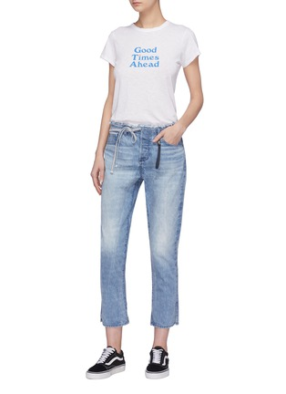 Figure View - Click To Enlarge - 72877 - 'Tufa' colourblock patch pocket tie jeans