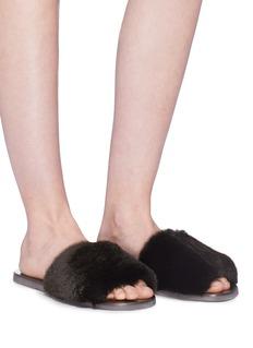 Fabio Rusconi Rabbit fur slide sandals