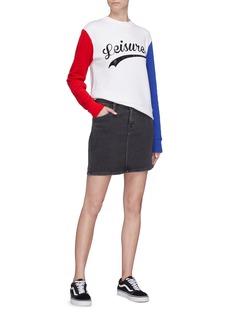 Etre Cecile  'Leisure' slogan print contrast sleeve sweatshirt