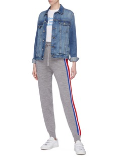 Etre Cecile  Stripe outseam Merino wool knit track pants