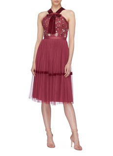 Needle & Thread 'Esther' floral embellished tulle dress