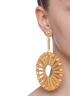 Cult Gaia 'Eva' bamboo hoop drop earrings