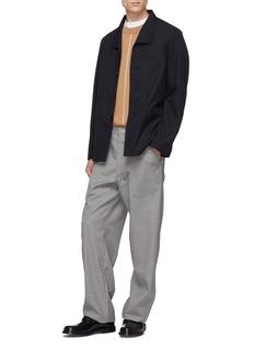Mackintosh Welt pocket virgin wool shirt jacket