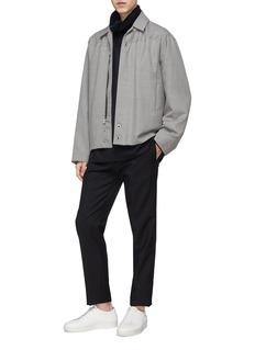 Mackintosh Zip collar virgin wool top