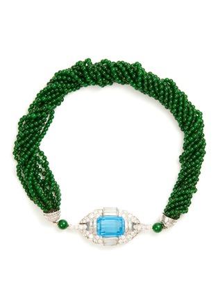 Main View - Click To Enlarge - SAMUEL KUNG - Diamond topaz jade beaded multi-strand necklace