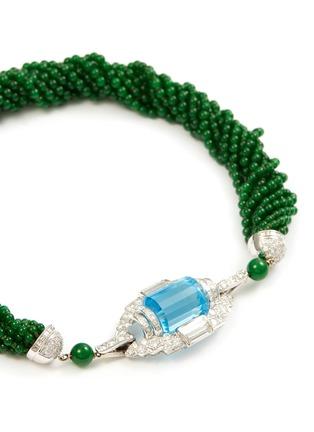 Figure View - Click To Enlarge - SAMUEL KUNG - Diamond topaz jade beaded multi-strand necklace