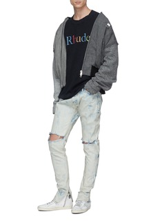 RHUDE 'Google' logo graphic print layered sleeve T-shirt