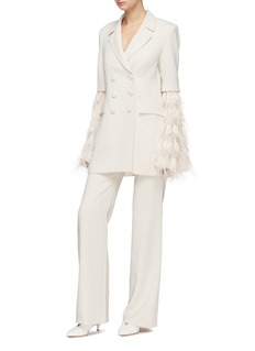 Leal Daccarett 'Rue' detachable Ostrich feather trim sleeve jacket