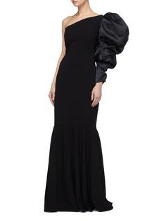 Leal Daccarett 'Opera' puff sleeve silk one-shoulder dress