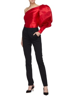 Leal Daccarett 'Puffy' sleeve silk satin one-shoulder top