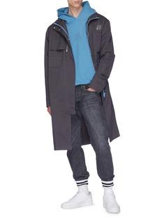 C2H4 x NUMBER (N)INE logo guitar blueprint twill windbreaker coat
