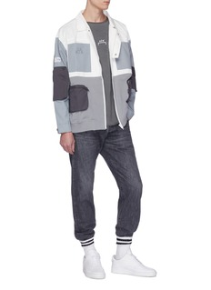 C2H4 x NUMBER (N)INE colourblock abstract graphic print twill M-65 jacket
