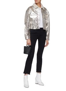 Simon Miller 'Morgo' cropped metallic crackle leather jacket