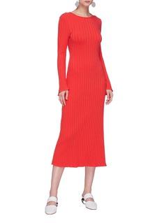 Simon Miller 'Wells' rib knit long sleeve dress