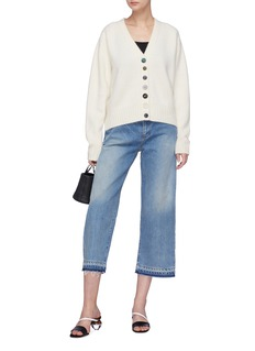 Simon Miller Let-out cuff denim culottes