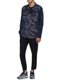 Nike Contrast sleeve camouflage print ripstop shirt jacket