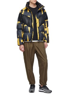 Nike Chevron panel abstract print down puffer jacket