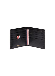 Thom Browne Stripe pebble grain leather bifold wallet