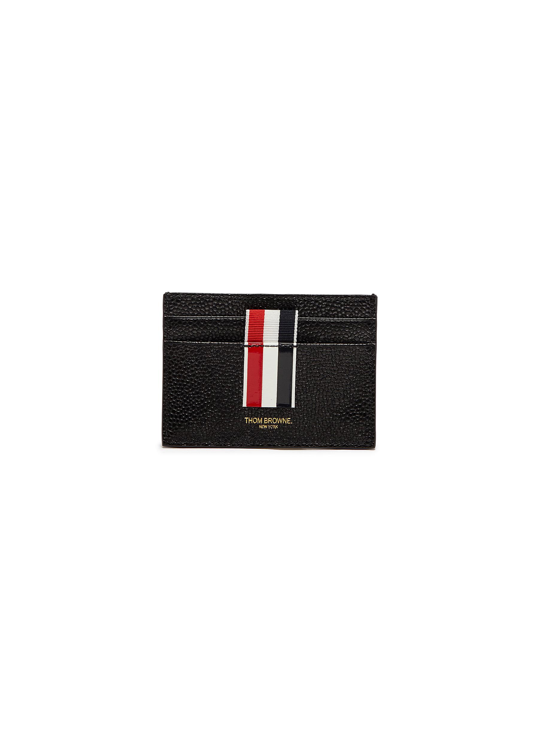 1f27f112fdc Main View - Click To Enlarge - Thom Browne - Stripe pebble grain leather  cardholder