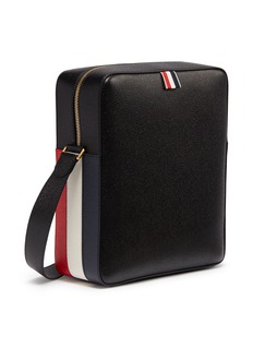 Thom Browne Stripe panel leather camera bag