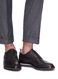 Thom Browne Longwing brogue pebble grain leather Derbies