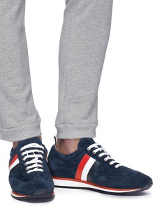Thom Browne Stripe suede sneakers