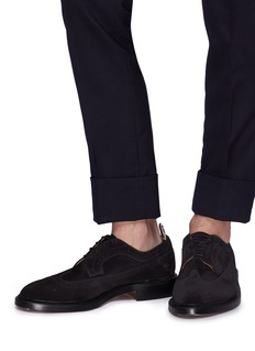 Thom Browne Longwing brogue suede Derbies