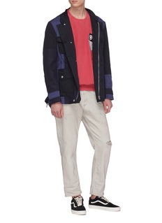Children of the discordance  Colourblock patchwork twill coach jacket