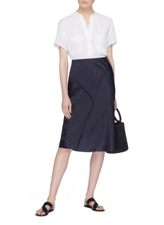 Vince Raw edge silk bias skirt