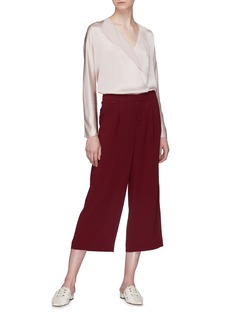 Vince Pleated satin culottes