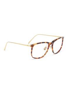 Linda Farrow Tortoiseshell acetate front metal D-frame optical glasses