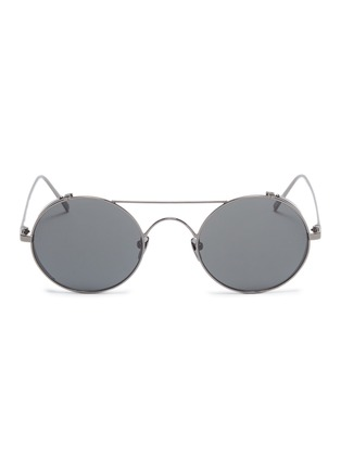 Main View - Click To Enlarge - LINDA FARROW - Spoiler metal round aviator sunglasses