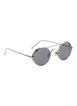 Figure View - Click To Enlarge - LINDA FARROW - Spoiler metal round aviator sunglasses