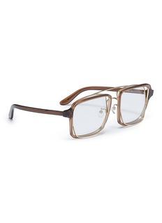 PERCY LAU x JINNNN double rim acetate square optical glasses
