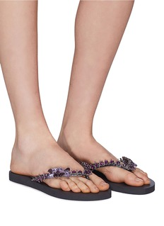 Uzurii 'Lily' crystal embellished thong sandals