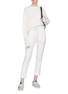 bassike Stripe outseam cropped jogging pants