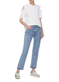 bassike Organic cotton cold shoulder T-shirt