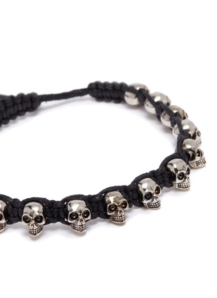 Detail View - Click To Enlarge - ALEXANDER MCQUEEN - Skull charm braided bracelet
