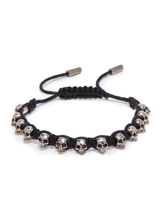 Main View - Click To Enlarge - ALEXANDER MCQUEEN - Skull charm braided bracelet