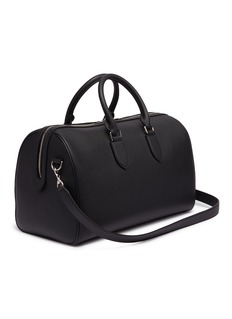 Alexander McQueen Logo print leather weekend duffle bag