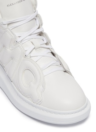 Detail View - Click To Enlarge - Alexander McQueen - Chunky outsole logo panel leather high top sneakers