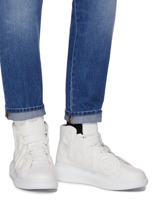 Figure View - Click To Enlarge - Alexander McQueen - Chunky outsole logo panel leather high top sneakers