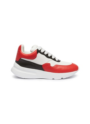 Main View - Click To Enlarge - Alexander McQueen - Oversized outsole colourblock patchwork leather sneakers